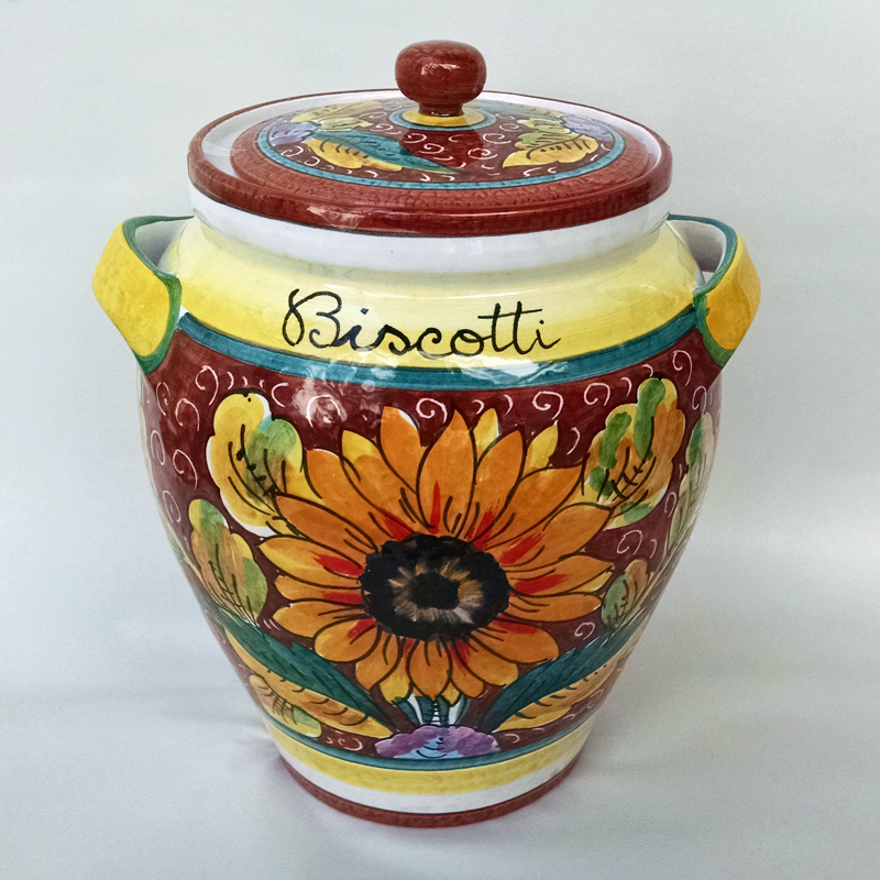 superb Ceramic Biscotti Jar Part - 2: Girasole Biscotti Jar