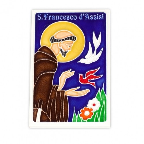 St. Francis with Birds Tile
