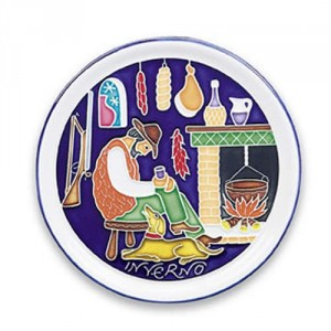 Amalfi Winter Plate