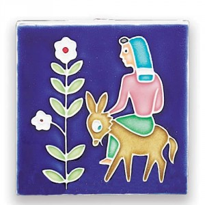 Folk Scene - Woman with Donkey