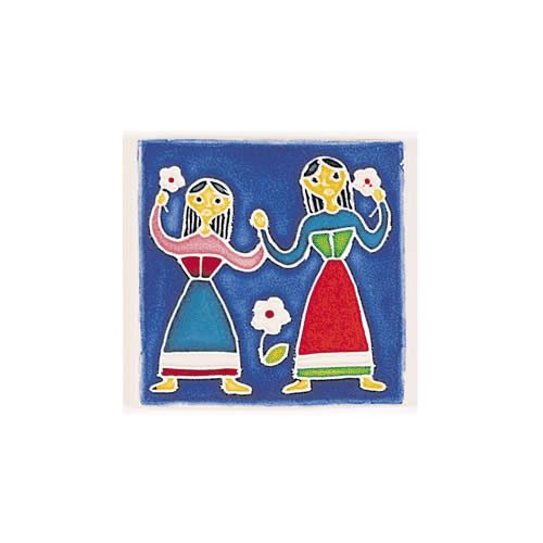 Folk Scene with Tarantella Dancers
