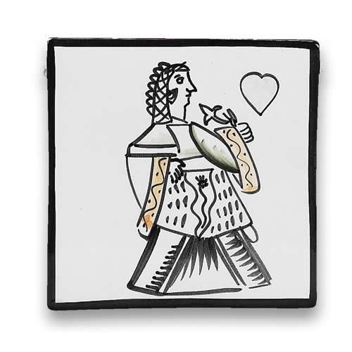 Square Dish - Hearts