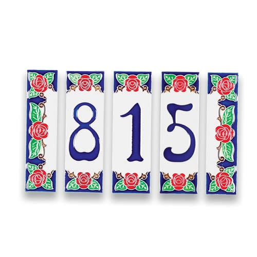 Address tile - #s and end tiles