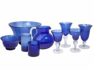 Bubble Glass Cobalt Blue