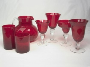 Bubble Glass Ruby