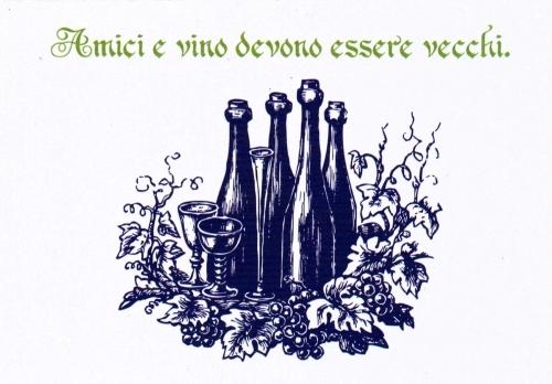 """""""Amici e vino"""" - Pack of 6"""