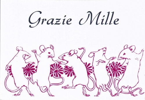 """Grazie Mille"" - Pack of 6"