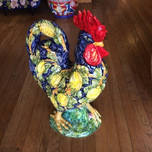 Tuscan Blue Rooster with Lemons