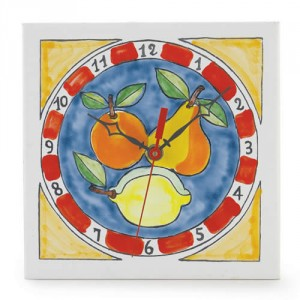 Square Fruit Clock