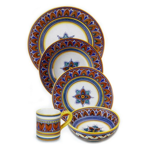 Geometrico Dinnerware Place Setting, Pattern 9