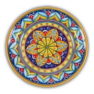 Geometrico Round Platter Pattern C