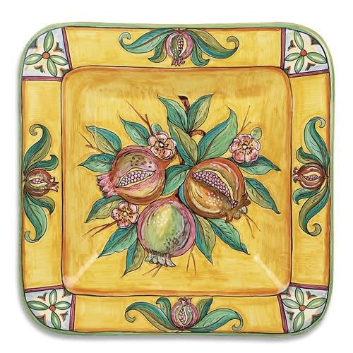 Melograno Fresco Square Plate