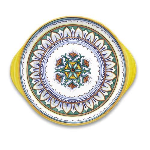 "Italian Dinner Plate Deruta Italy Dip a mano dinnerware 9.75/"" wide hand painted"