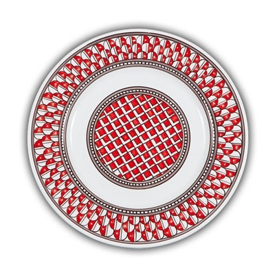 Geometrico Dinner Plate Rosso