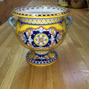 Deruta Two Handled Tureen or Urn