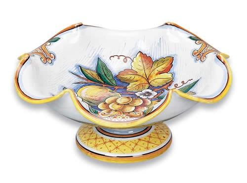 Bianco Fresco Footed Fruit Bowl