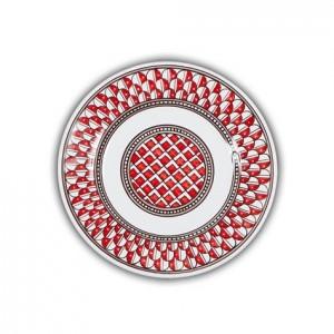 Geometrico Salad Plate Rosso