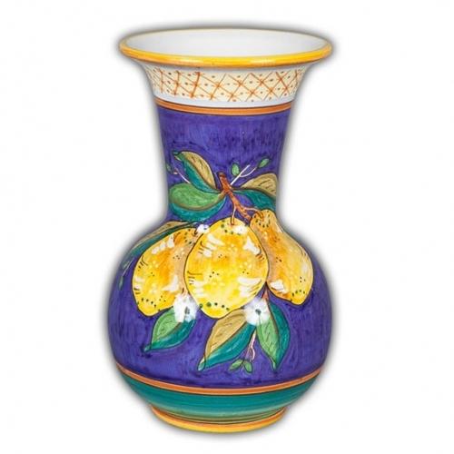 Limone Fresco Trumpet Vase