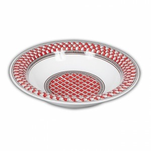 Geometrico Serving Bowl Rosso