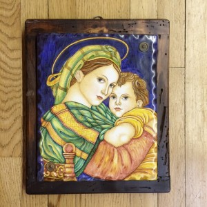 Deruta Madonna and Child Ceramic Painting