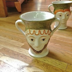 Male - Female Handmade Tuscan Vase With Handles