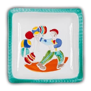 De Simone Square Art Plate - Palloncini