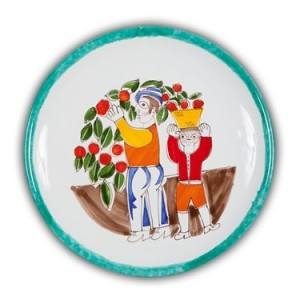 De Simone Art Plate - Orange Pickers