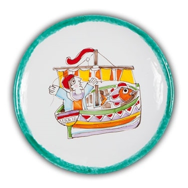 De Simone Art Plate - Fisherman