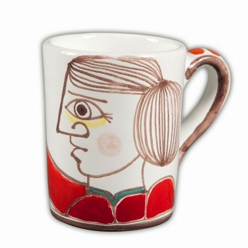 Desimone Person with Flower Mug