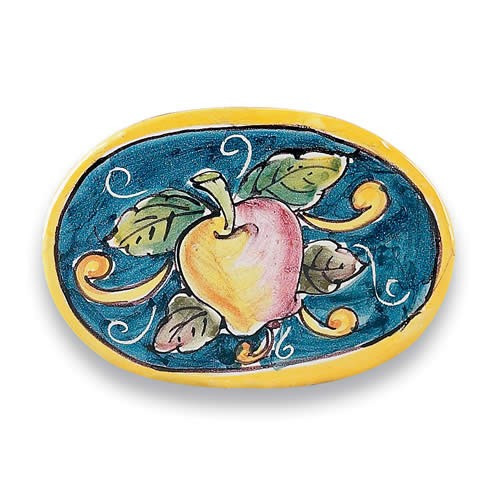 Oval Tile - Apples