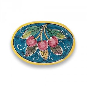 Oval Tile - Cherries