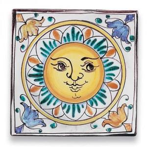 Square Tile - Sun
