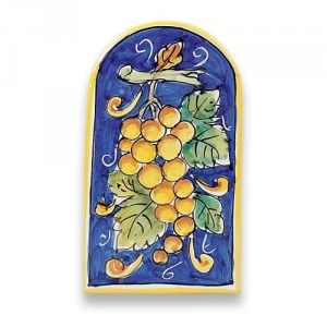 Small Arch-shaped Tile - Grapes