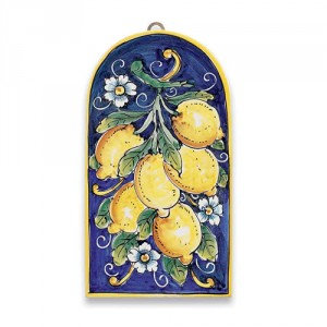 Large Arch-Shaped Tile - Lemons