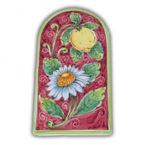 Large Arch-Shaped Tile - Lemon and Flower