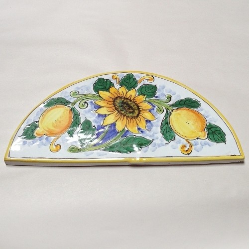 Wide Arch-Shaped Tile - Sunflower & Lemons