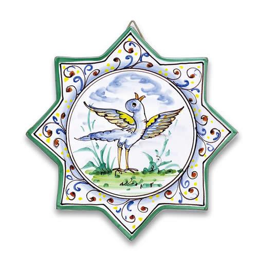 Star-shaped Bird Tile