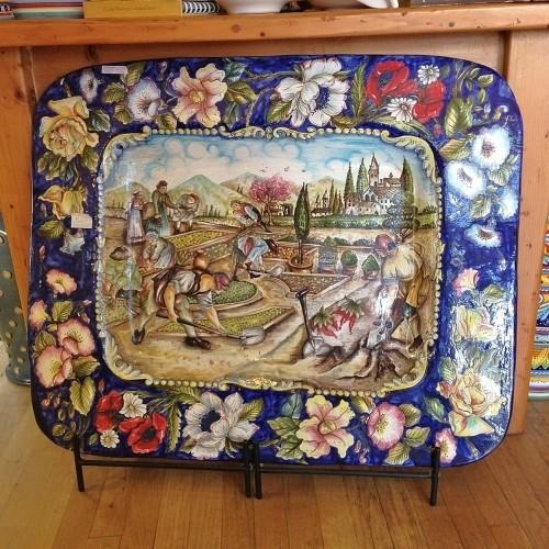 Handmade Ceramic Platter - Lavorano nel giardino