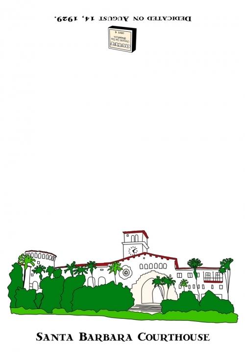 Santa Barbara Courthouse Dishtowel