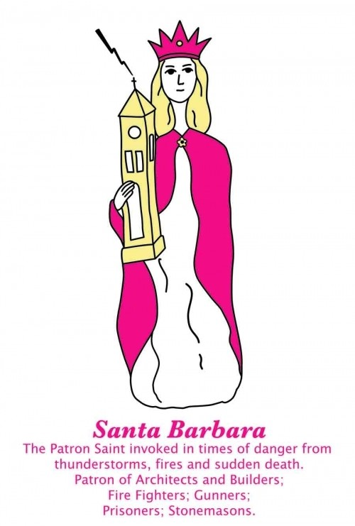 Saint Barbara Dishtowel