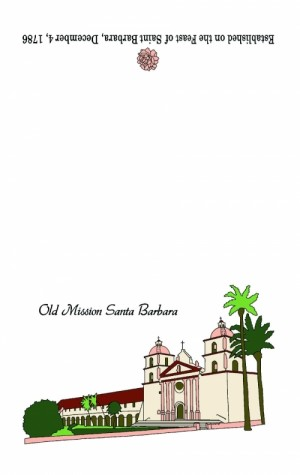 Santa Barbara Mission Dishtowel