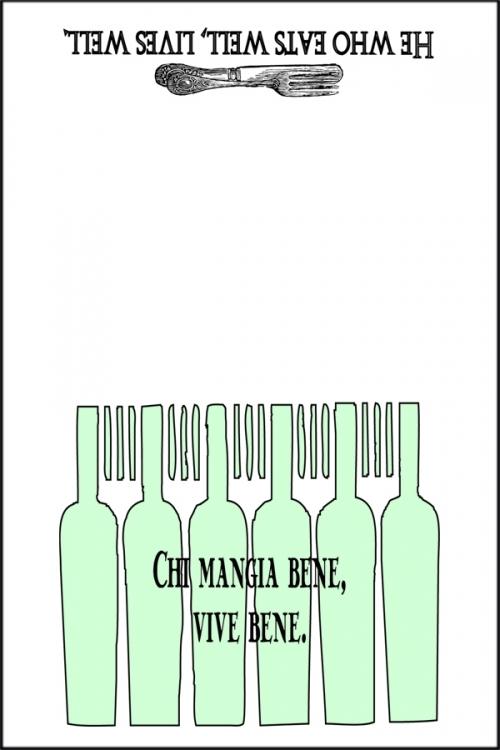 Eat Well Italian Proverb Dishtowel