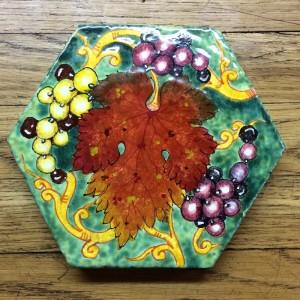 Hand Painted Tuscan Ceramic Plaque
