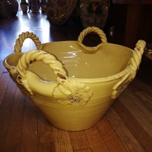 Tuscan Gold Four-Handle Bowl