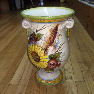 Small Autumn Colors Footed Urn