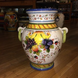 Two Handled Tuscan Urn with Fruit