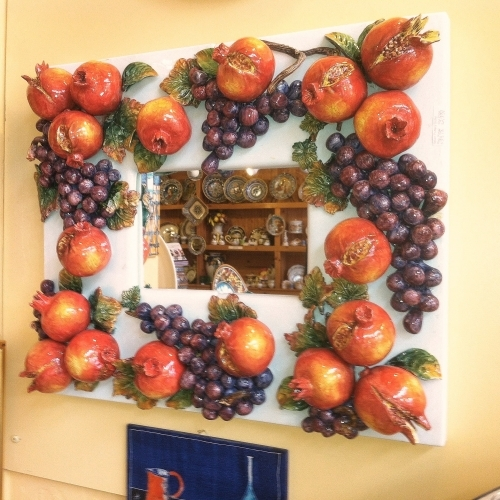 Grapes & Pomegranate Mirror - Medium Size