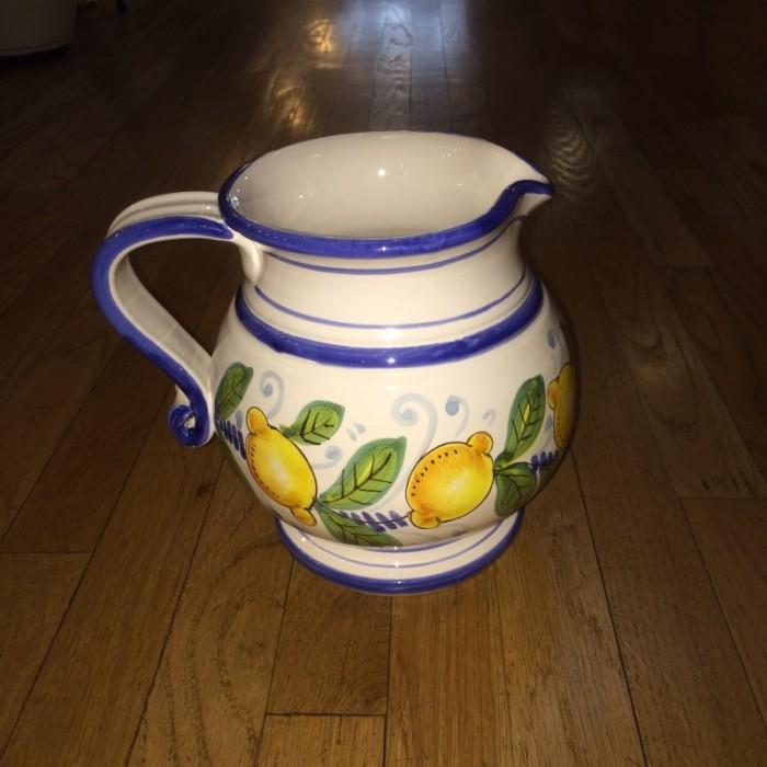 Lemon Motif Pitcher