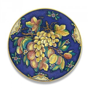 Ornato Large Round Platter with Fruit