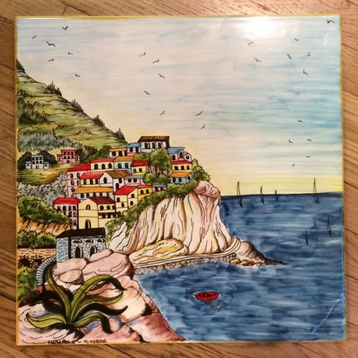 Tuscan Seaside Village Table or Panel